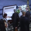Petes open casket in Cathedral